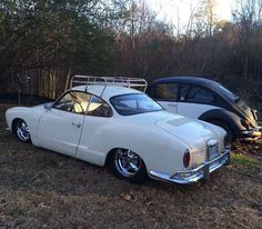 "thefoxdude: ""My cars two years back. #beetle #VW #volkswagen #karmannghia #ghia #slammed #torkers #fuchs #southernintegrityaircoolers (at Wolff Manor) """