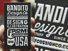 Ryan Brinkerhoff Business Card Design. 30 Business Card Designs with Bold Type #typography #businesscard