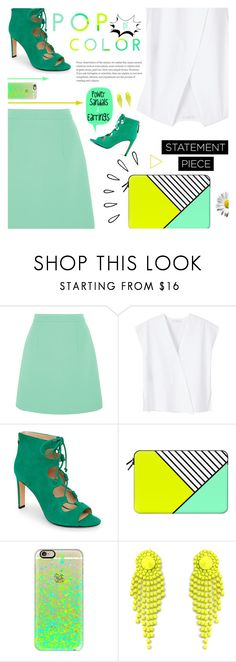 """POP"" by r-maggie on Polyvore featuring McQ by Alexander McQueen, MANGO, Nine West, Casetify and Old Navy"