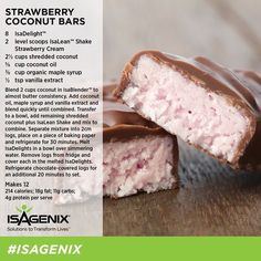 These amazing strawberry coconut bars are quick and easy to make. Get your free recipe here.