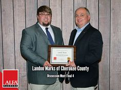 Discussion Meet Finalist Landon Marks of Cherokee County Young Farmers, Create Awareness, Cherokee, Alabama, Leadership, Meet, Cherokee Language