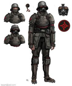 Fourth Reich Soldier. by LordOguzHan on DeviantArt Fantasy Character Design, Character Concept, Character Art, Armor Concept, Weapon Concept Art, Mode Cyberpunk, Steampunk Armor, Military Drawings, Sci Fi Armor