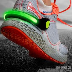 Stay safe during those early morning and late night runs with our LightGUIDE LED Shoe Clip!