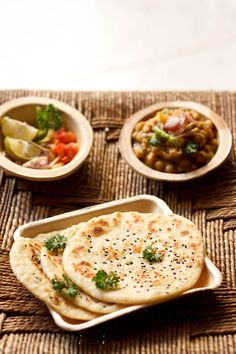 kulcha – popular soft leavened north indian flat bread.  #kulcha #bread #indianfood