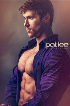 Steve Moriarty open shirt with pecs