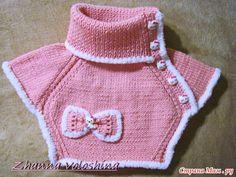 Манишка - очень удобный вид одежды. Манишка связана спицами и украшена аппликацией