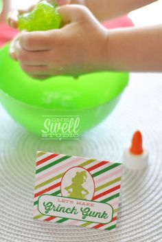 Grinch Gunk!  A Very Grinchy Christmas (Party On a Budget) by One Swell Studio