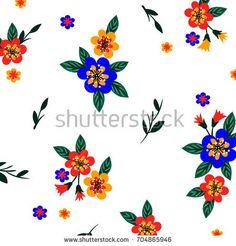 flower pattern - bu vektörü Shutterstock'ta satın alın ve başka görseller bulun. Flower Patterns, Flowers, Image, Doodle Flowers, Floral Patterns, Royal Icing Flowers, Flower, Florals, Floral