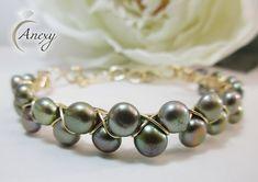 #Brazalete de #Perlas #Alambrismo #Brazalet #jewelry #pearls #Anexy