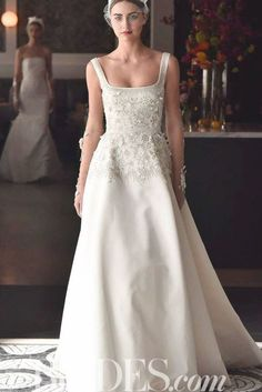 42 Wedding Dresses with Fresh (Off the Runway) Floral Details Formal Dresses, Wedding Dresses, Wedding Details, Runway, Neckline, Fresh, Floral, Fashion, Dresses For Formal