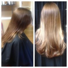 Before & after balyage