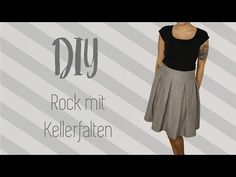 Rock mit Kellerfalten nähen, DIY Tutorial, Nähanleitung, My Crafts and DIY Projects
