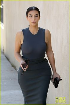 Kim Kardashian Shows Off Her Assets in a Totally Sheer Top | kim kardashian shows off her assets in a totally sheer dress 02 - Photo