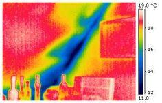 Thermografie Beispiel Messung - Vergleich Thermografie und Foto (von unserer Homepage)