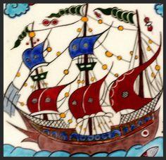 sonat'ın hazineleri Tile Art, Mosaic Art, Mosaic Tiles, Turkish Art, Turkish Tiles, Nautical Art, Plate Design, Pen Art, Ceramic Painting