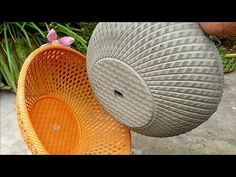 How To Make Cement Pots | Simple & Easy DIY Flower Pot Designs - YouTube