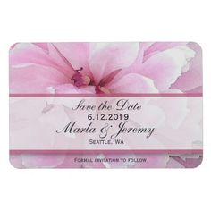 Pink peony watercolor save the date
