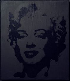 Sturtevant. Warhol Black Marilyn. 2004. Synthetic polymer silkscreen and acrylic on canvas. 15 ¾ x 13 ¾ in. (40 x 35 cm). Ringier Collection, courtesy Anthony Reynolds Gallery, London.  © Sturtevant.