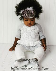 Fall is the perfect time for comfortable cozys and knitted leggings! Miss London's outfit doesn't sacrifice style for comfort- those knitted leggings and delicate lace detailed sweaters are a must for a Fall wardrobe! && Did you see her headpiece   Sizes 3m to 24M - $19.99 each piece Headband $12.50 available for purchase in shop or leave email and size below to order