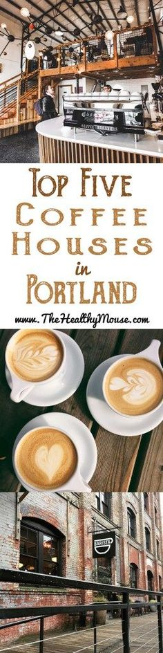 Top 5 Coffee Houses in Portland, Oregon - Portland Oregon Travel A list of my top 5 favorite coffee houses in Portland, Oregon. Because when you're in PDX, having amazing coffee shop experiences is a must! Oregon Usa, Portland Oregon, Oregon Washington, Oregon Coast, Portland Hikes, Oregon Travel, Oregon Vacation, Oregon Road Trip, Travel Usa