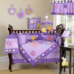 Danielle's Daisies 9 Piece Baby Crib Bedding Set by Sweet Jojo Designs Image - jjd1042bed9 - Type 1