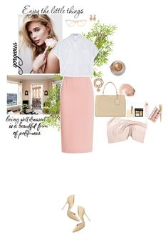 """""""cream & roses"""" by lk-666 ❤ liked on Polyvore featuring Nearly Natural, NARS Cosmetics, Roland Mouret, Proenza Schouler, Steve Madden, Balenciaga, Tom Ford, Tory Burch, Bobbi Brown Cosmetics and Victoria's Secret"""