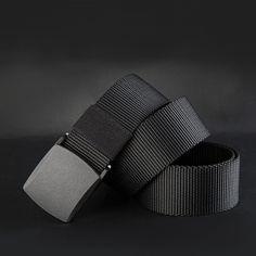 Canvas Belt Casual Plastic Automatic Buckle 110-140cm Belt