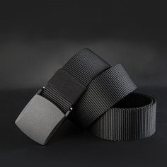Nuove 2016 Cinture Da Uomo di Alta Qualità Canvas Belt Casual cinture fast dry Plastica Fibbia Automatica 110-140 cm