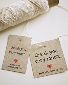 Personalized Favor Tags PRINTABLE Thank You by ThreeEggsDesign