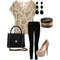 Polyvore Combinations For A Night Out