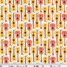 Shop | Category: Children | Product: Far Far Away III - Guitars - Peach & Yellow