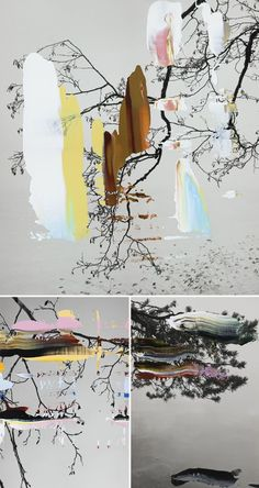Simple black & white photography + the perfect pull of a palette knife = gorgeous results! This is the work of Finnish artist Nanna Hänninen, and I have to admi