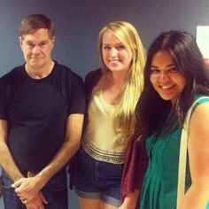 Gus Van Sant poses with some Clarkies. He was on campus with actor Matthew McConaughey on to film scenes for the film The Sea Of Trees. Matthew Mcconaughey, Trees, Van, Actors, Couple Photos, Film, Couples, Couple Shots, Movie