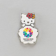 2020 Tokyo Olympic New Candidate City Badge Kitty Bid Pins