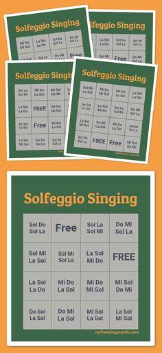 Solfeggio Singing Bingo