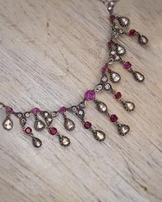 Ruby Necklace, Necklace Price, Necklace Lengths, Uncut Diamond, Rose Cut Diamond, Handmade Necklaces, Silver Necklaces, Beautiful Earrings, Fine Jewelry