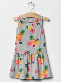 Printed jersey dress: $19.95, available in sizes 12 months to 5 years. Gap Kids & Baby Gap: $$, local Cville franchise