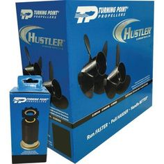Turning Point Propellers Hustler 4 Blade Aluminum Prop and Hub Combo Pack for Select Yamaha Parsun 50-100 HP Engines with 4.25 inch Gearcase