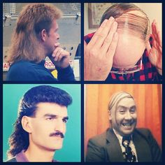 """""""#hairphotoaday 25. Hair don't - I like most hairstyles, except for mullets and comb overs. Especially comb overs, you're not fooling anyone! What's your hair don't?"""""""