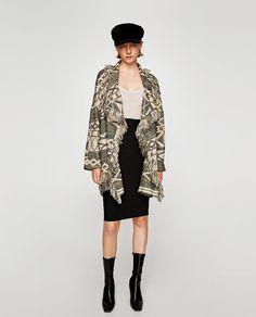 ZARA - REBAJAS - ABRIGO FLECOS Coat Sale, Zara Women, Coats For Women, Mantel, Kimono Top, How To Wear, Outfits, Image, Closet