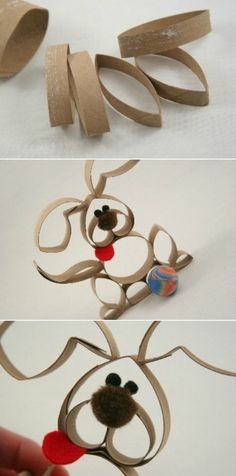 Toilet Paper Roll Crafts - Get creative! These toilet paper roll crafts are a great way to reuse these often forgotten paper products. You can use toilet paper rolls for anything! creative DIY toilet paper roll crafts are fun and easy to make. Toilet Paper Roll Art, Rolled Paper Art, Toilet Paper Roll Crafts, Cardboard Crafts, Cardboard Tubes, Kids Crafts, Crafts To Do, Easter Crafts, Christmas Crafts