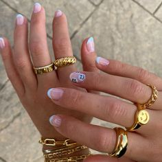 Nagellack Trends, Nail Jewelry, Jewlery, Nail Ring, Accesorios Casual, Funky Nails, Funky Nail Art, Fire Nails, Minimalist Nails