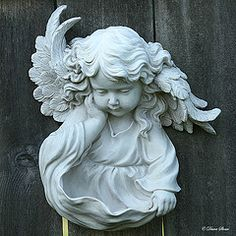 Angel on earth Statue Ange, I Believe In Angels, Ange Demon, Garden Angels, Angels Among Us, Angel Statues, Angel Art, Garden Statues, Cherub