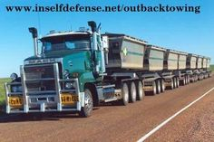 The truck I drove in 1999...At the time the worlds longest and heaviest road registered truck. Based in Cloncurry outback Queensland Australia. Mack Trident, (2B3) - 2 B-Triples, 550 CAT, 98 wheels, 53.5m long, 60t empty, 168t loaded, speed limited to 80kmph & road registered.