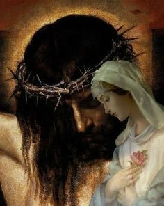 Jesus and Mary ~ When a spouse passes away, there's a name for it: widow/er. When parents die, there's a name for it: orphan. When a mother loses a child, there's no name for it, in any language, because the words to capture that much pain don't exist.