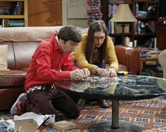"""Howard & Amy in """"The Scavenger Vortex"""" Episode 3 of Season 7 When the entire gang competes in a scavenger hunt designed by Raj, it brings out the best – and worst – in everyone, on THE BIG BANG THEORY, Thursday, Oct. 3 (8:00 – 8:31 PM, ET/PT) on the CBS Television Network. Pictured left to right: Simon Helberg and Mayim Bialik Photo: Cliff Lipson/CBS © 2013 CBS Broadcasting, Inc. All Rights Reserved."""