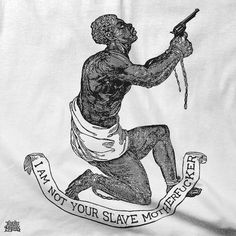 "The first and most identifiable image of the 18th century abolitionist movement was a kneeling African man with a banner stating ""Am I Not a Man and a Brother?"" below.  (Left.)  It was an image commissioned by abolitionist Quakers, playing on religious symbolism to tug on the heartstrings of white folks. The kneeling black man looking feeble and in need of the graciousness of white people, underscoring the perception of black inferiority that's continued in art and culture until even now."