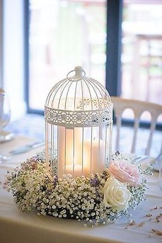 Shabby Chic Wedding Decor - Birdcage centrepieces in Home, Furniture & DIY…