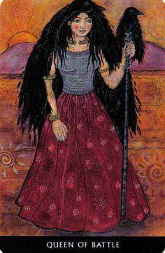 Morrigan, Queen of Battle - Celtic Wisdom Tarot