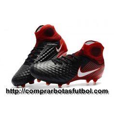 Mejor Botas De Futbol Nike Magista Obra II FG Negro Blanco Rojo 1a06e0ccd4f4b
